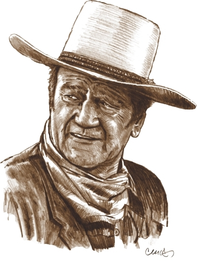 John Wayne por Roger_Curley